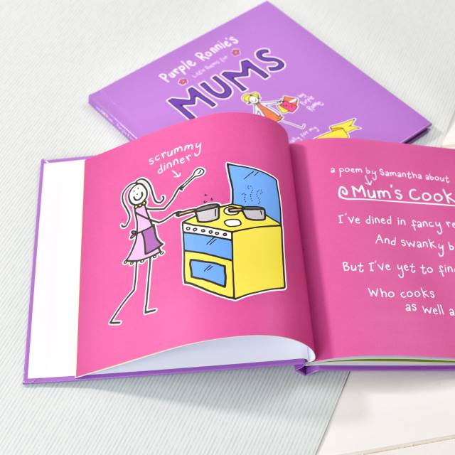Purple Ronnie's Book of Poems for Mum - inside - Peach Perfect