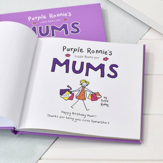 Purple Ronnie's Book of Poems for Mum - message - Peach Perfect
