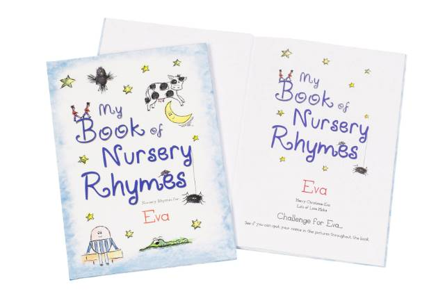 Personalised Classic Nursery Rhyme book 2 - Peach Perfect