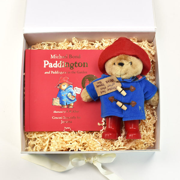 Personalised Paddington Book & plush toy set - Peach Perfect