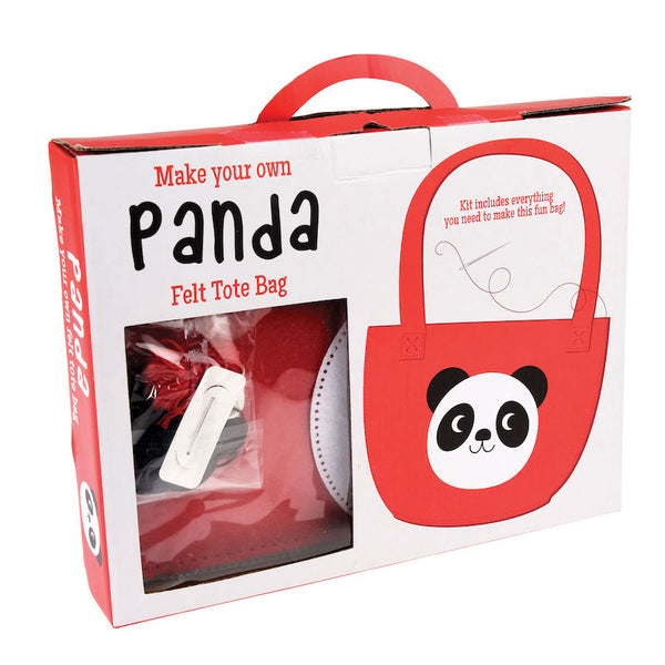 Make your own felt Panda Tote bag - Peach Perfect