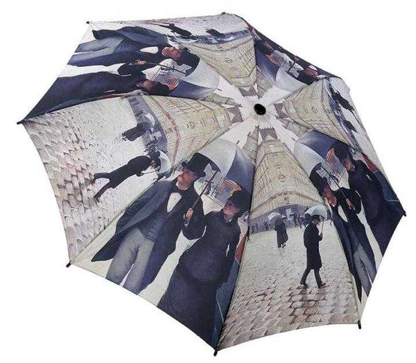 Caillebotte Paris folding umbrella by Galleria - Peach Perfect