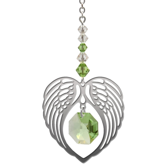 Angel Wing Peridot - Peach Perfect