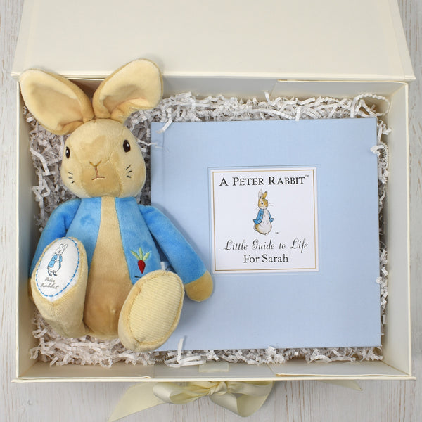 Peter Rabbit Personalised book and toy set - Peach Perfect