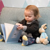 Peter Rabbit Personalised book and toy set - with child - Peach Perfect