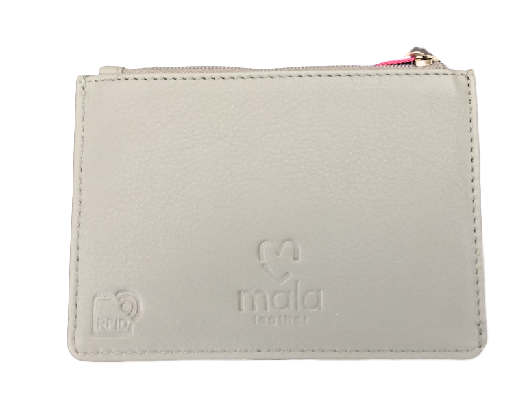 Back of card & coin holder by Mala - Peach Perfect