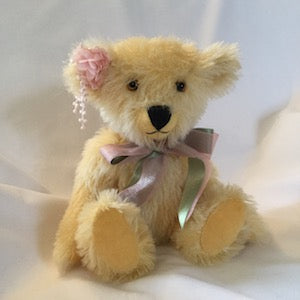 27cm mohair teddy bear kit - Peach Perfect