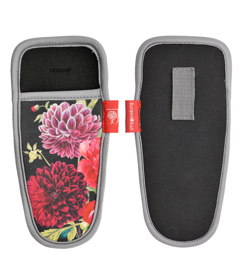 RHS British Bloom pruner holster - back and front views - Peach Perfect