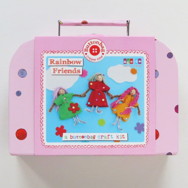 Rainbow friends suitcase by Buttonbag - Peach Perfect
