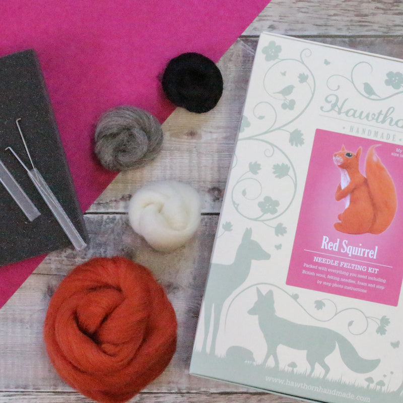 Red Squirrel  needle felting kit  - Peach Perfect