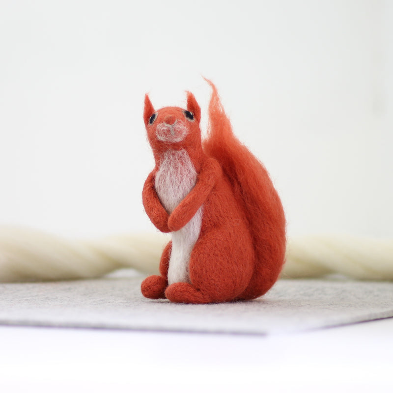 Red Squirrel from needle felting kit by Hawthorn Handmade - Peach Perfect