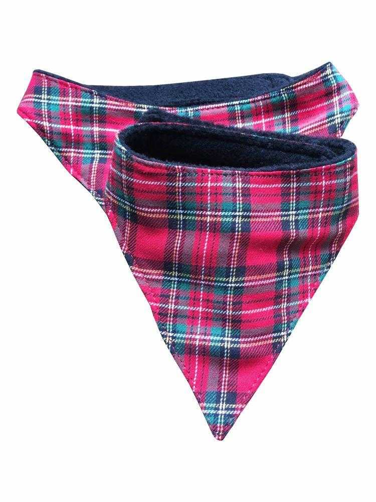 Dog bandana - tartan - Peach Perfect