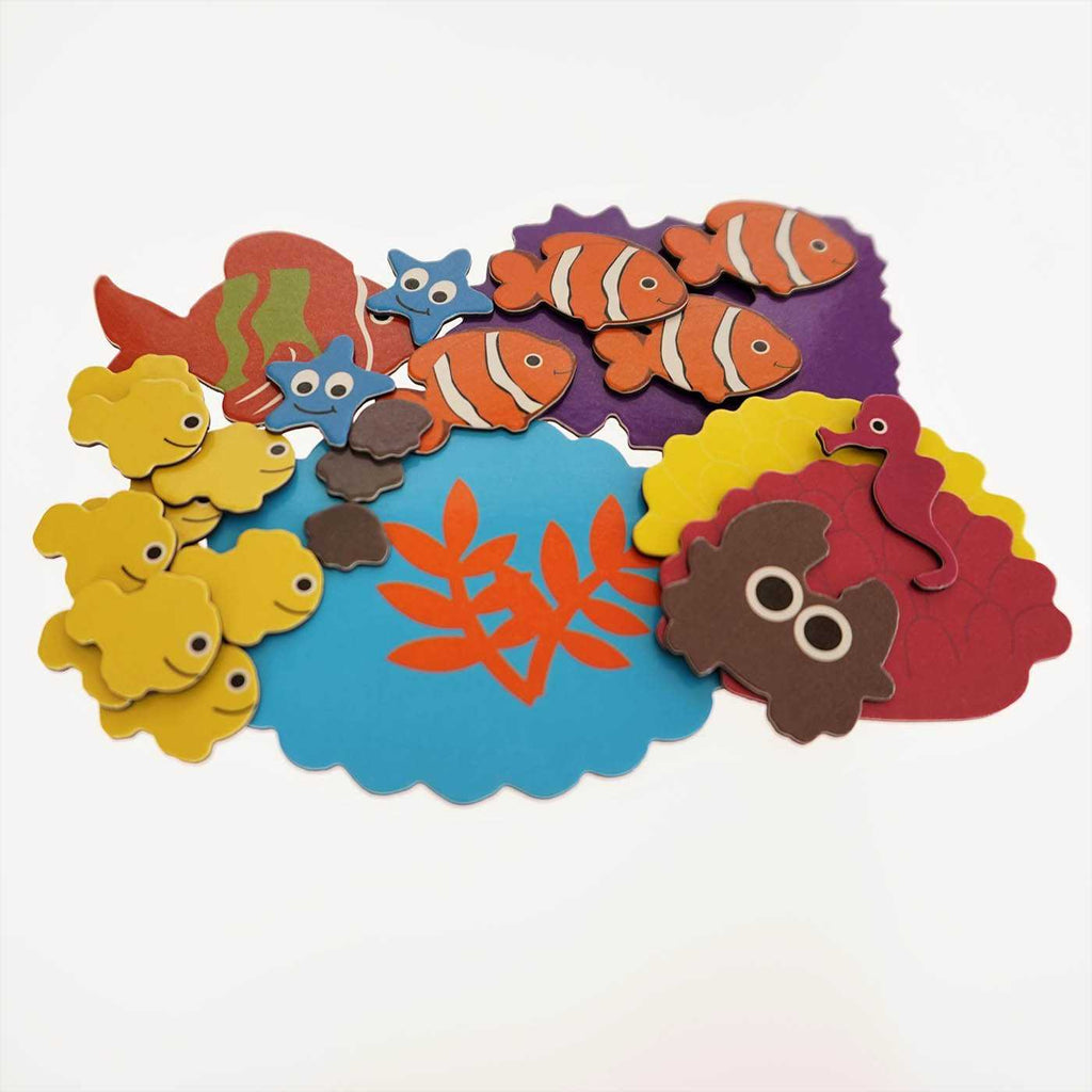 Little wise toys magnetic collage kit - Sea Life shapes - Peach Perfect