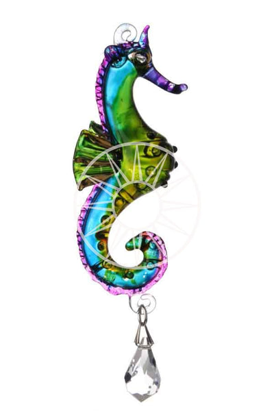 Fantasy Glass Seahorse with Swarovski crystal
