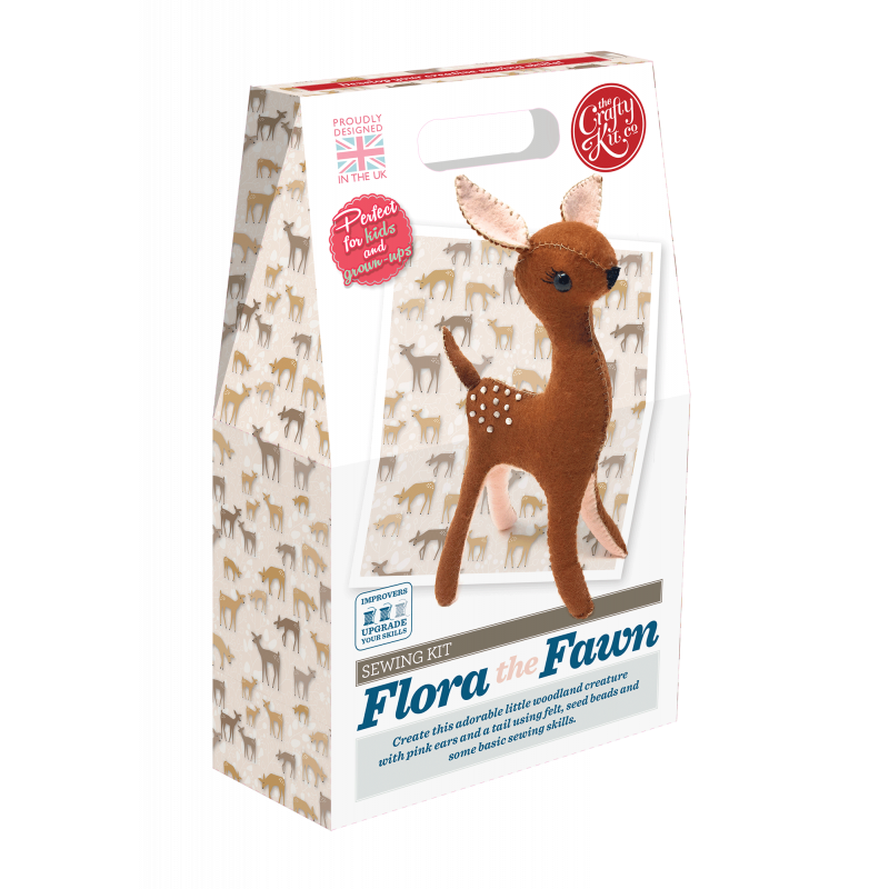 Flora Fawn felt sewing kit - Crafty Kit Compay - Peach Perfect