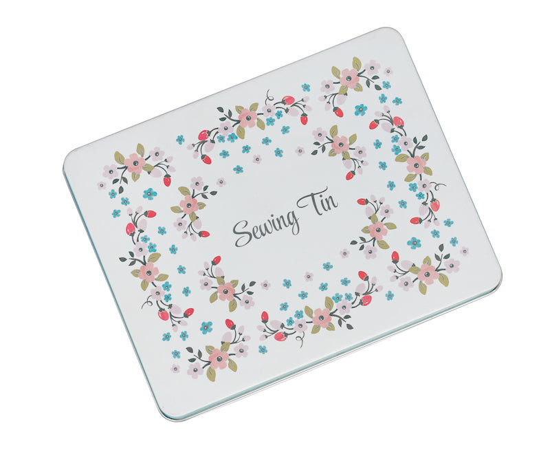 Rose Hip deluxe sewing tin by Rex London - Peach Perfect