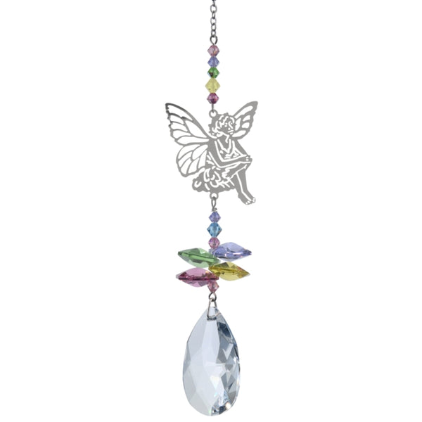 Sitting Fairy Suncatcher with Swarovski Crystals by Wild Things Gifts