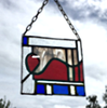 Abstract Stained Glass Art