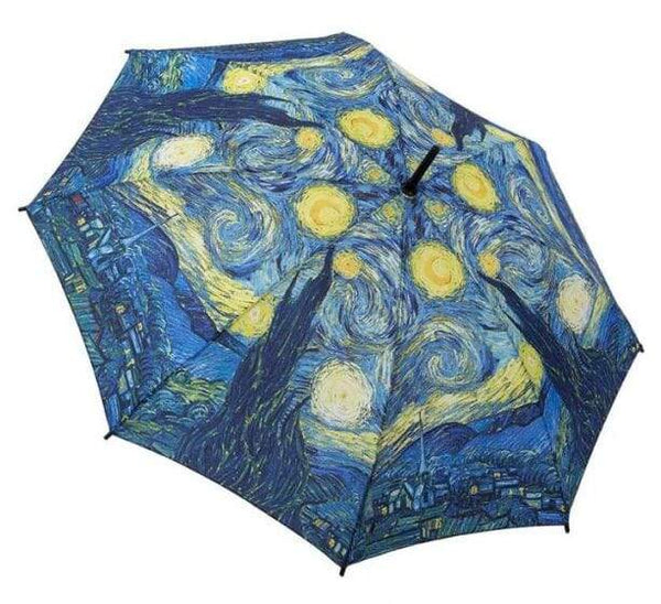 Van Gogh Starry Night Folding umbrella by Galleria - Peach Perfect
