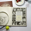 Personalised Wimbledon Tennis newspaper book message page - Peach Perfect