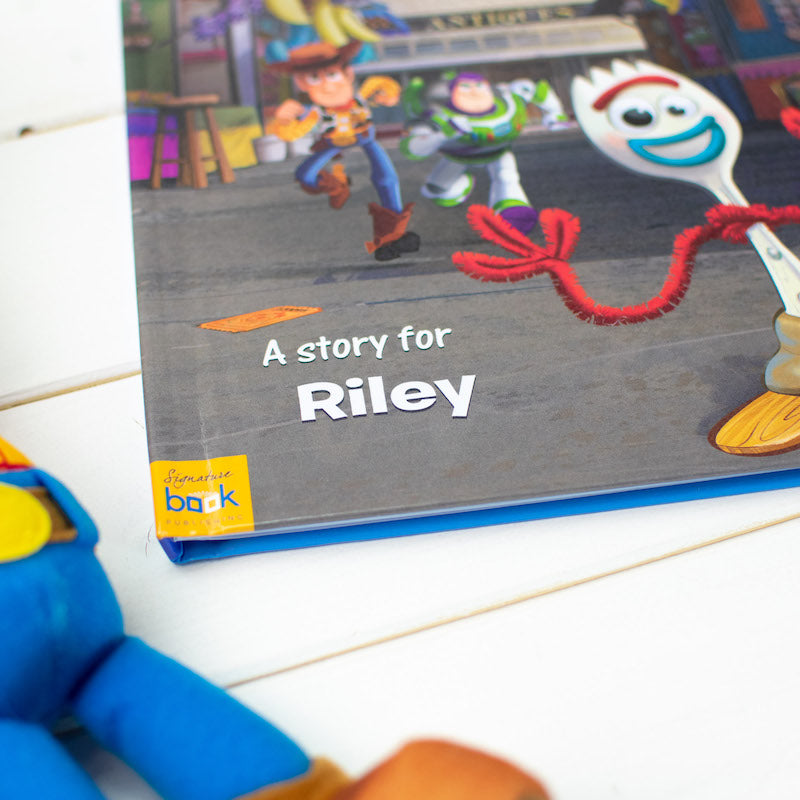Personalised Toy Story 4 book - Name on cover - Peach Perfect