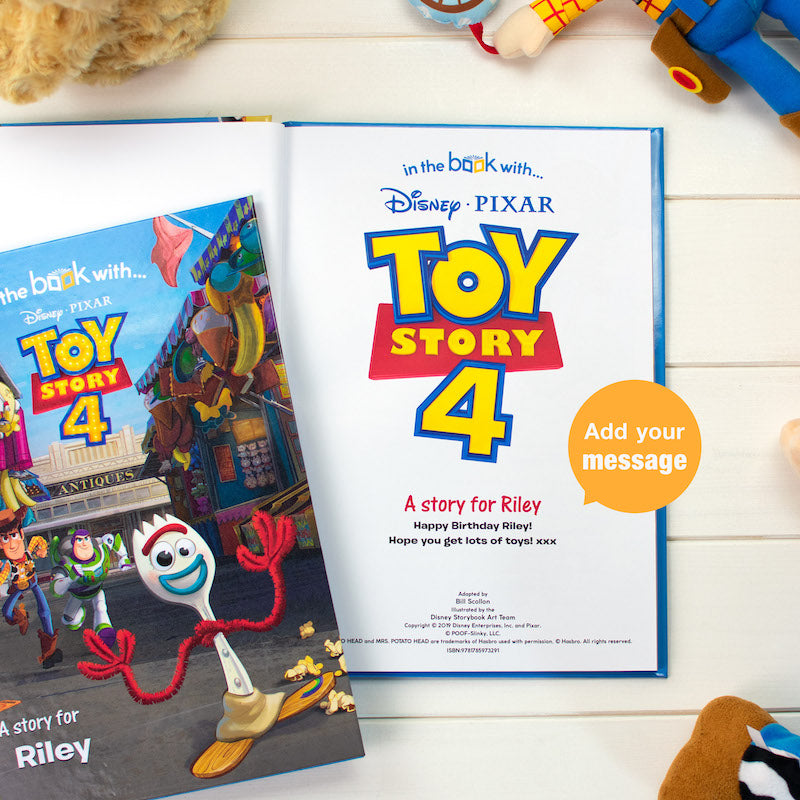Personalised Toy Story 4 book - inside page - Peach Perfect
