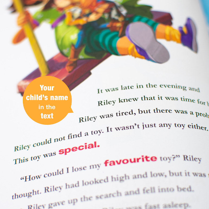 Personalised Toy Story 4 book - name in text - Peach Perfect
