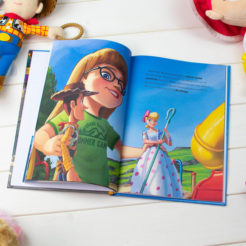 Personalised Toy Story 4 book - double page - Peach Perfect