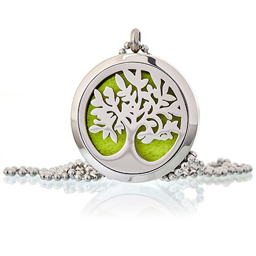 Tree of Life Aromatherapy diffuser necklace - Peach Perfect