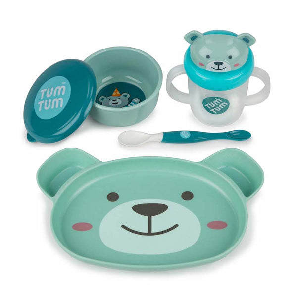 Tum Tum Boris the bear baby weaning set - Peach Perfect