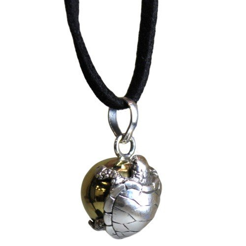 Turtle Calling Ball necklace from Bali - Peach Perfect