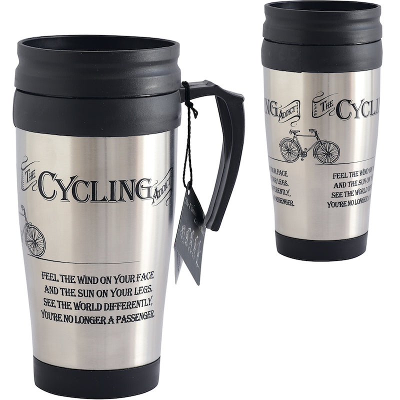 Cycling addict travel mug - Peach Perfect