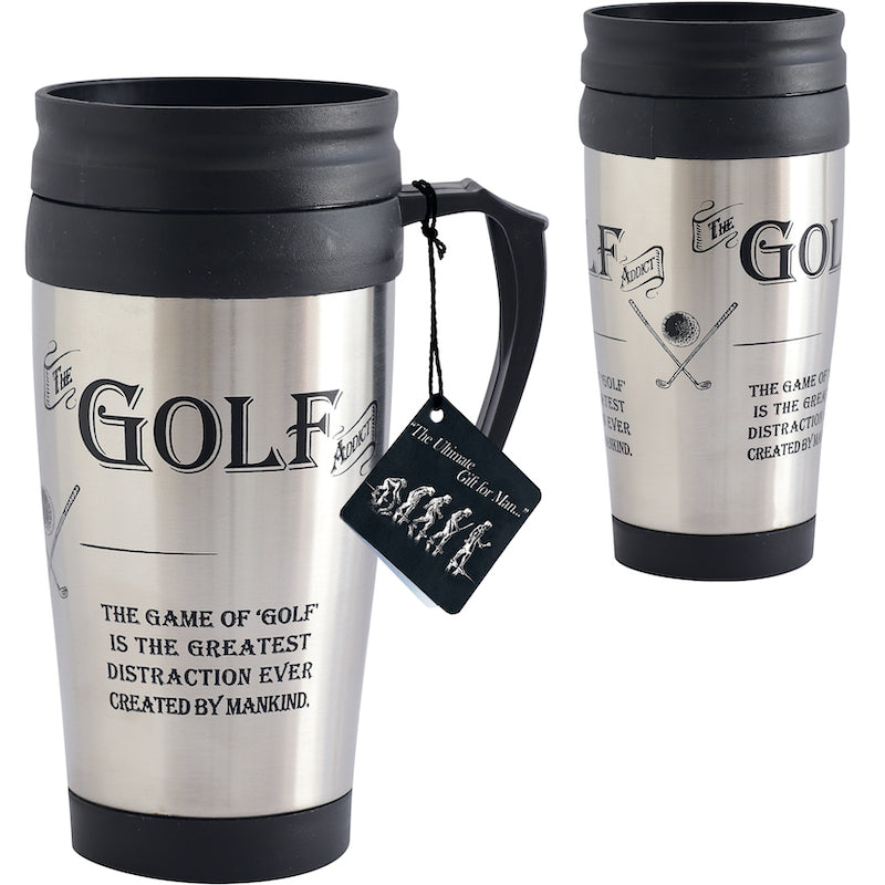 The Golf Addict Travel Mug - Peach Perfect