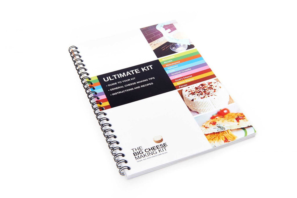 Ultimate cheese making kit - recipe book - Peach Perfect