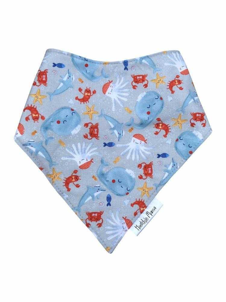 Bandana dribble bib - Under the sea - Peach Perfect