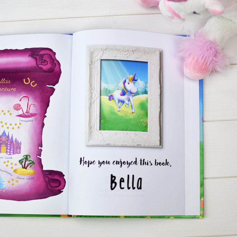 Personalised Unicorn Story book & plush toy set - last page - Peach Perfect