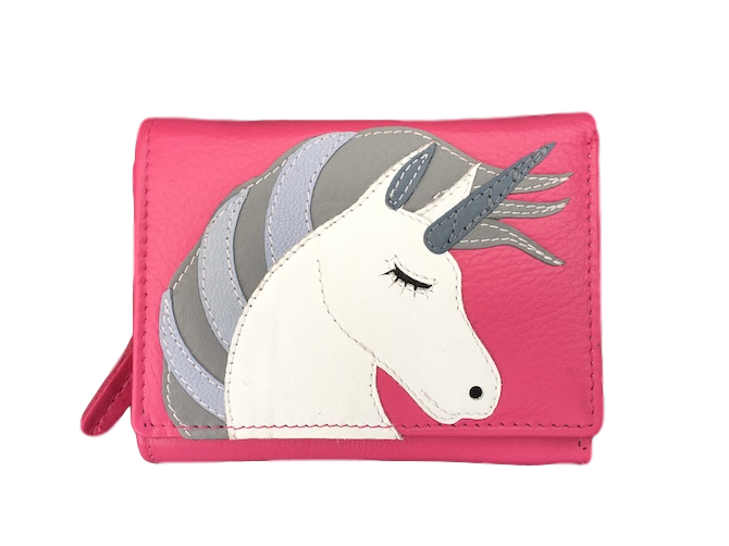 Amara pink unicorn purse by Mala - Peach Perfect