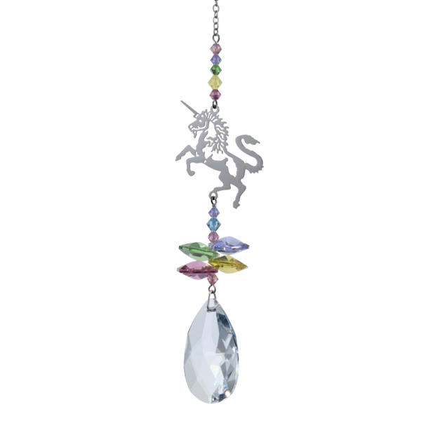 Unicorn Suncatcher with Swarovski Crystals by Wild Things Gifts