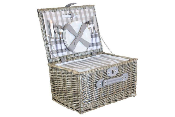 Antique willow chiller picnic hamper - Peach Perfect