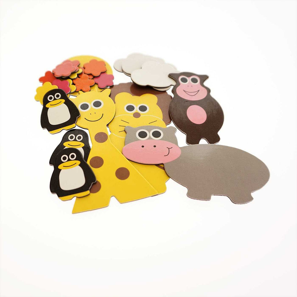 Little wise toys magnetic collage kit - zoo contents - Peach Perfect