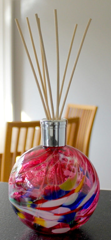Hand blown Glass diffusers - Amethyst - Peach Perfect