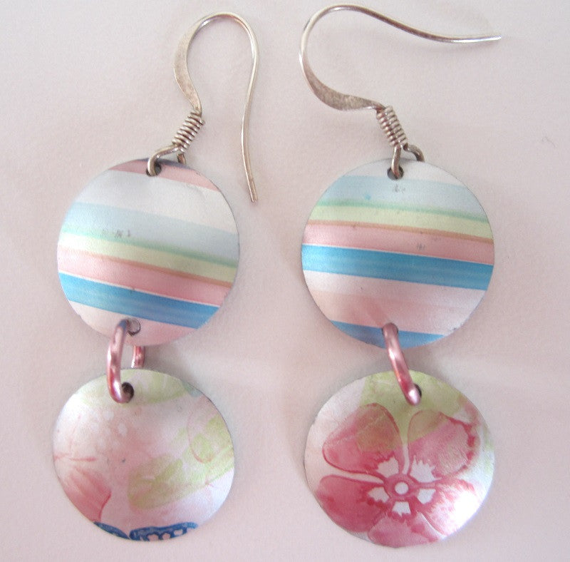 Aluminium Earrings by Cherry green - Peach Perfect - 2