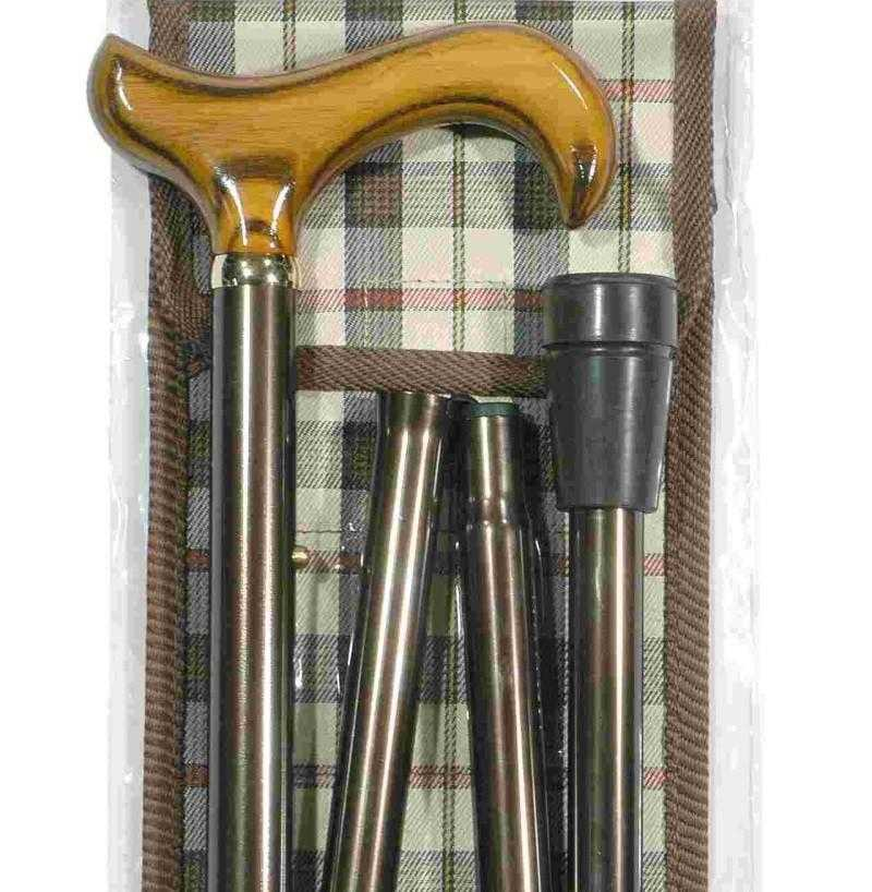 Men's Folding Canes - Brown - Peach Perfect