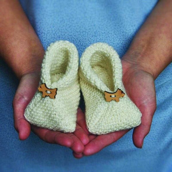 Cosy Baby Bootees Knitting Kit - Peach Perfect