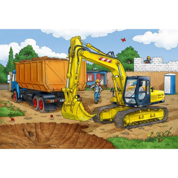 Digger Puzzle & Play by Schmidt - jigsaw picture - Peach Perfect