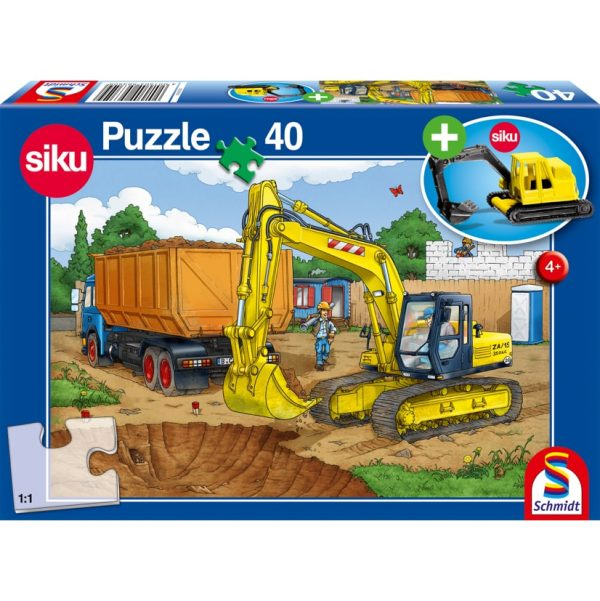 Digger Puzzle & Play by Schmidt - Peach Perfect
