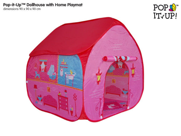 Pop up Play Tents - Dolls House - Peach Perfect
