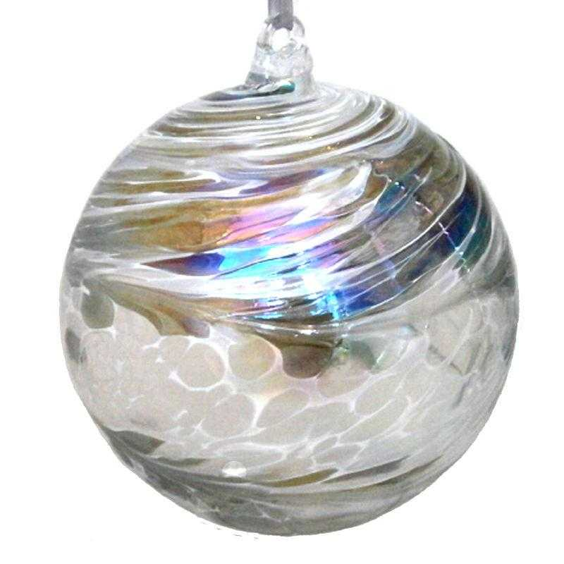 Large Friendship ball - silver - Peach Perfect