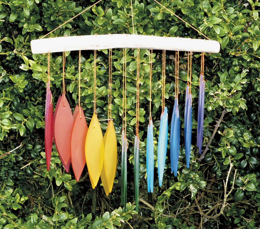 Fairtrade Glass 'Falling Leaves' Wind Chime by Sunlover