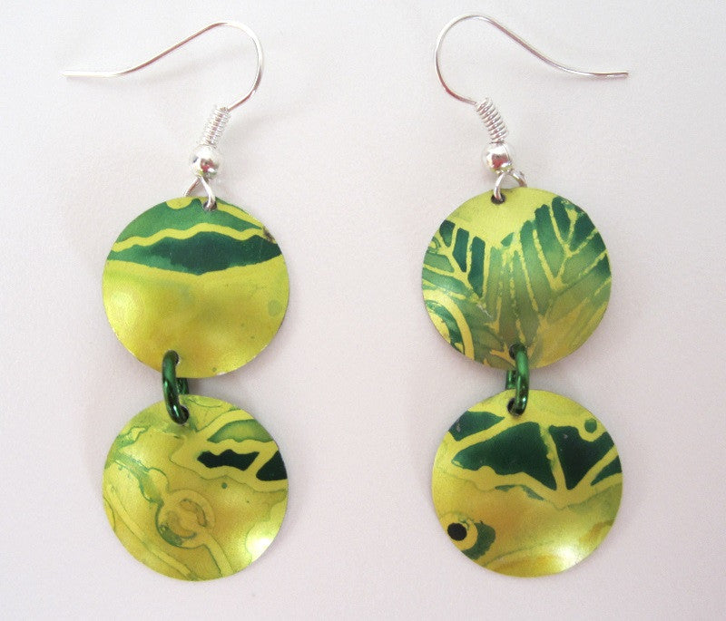 Aluminium Earrings by Cherry green - Peach Perfect - 3